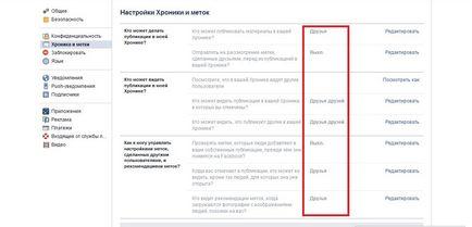 Cronica (cronologie) în Facebook